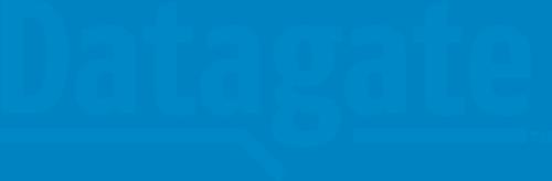 Datagate logo, blue