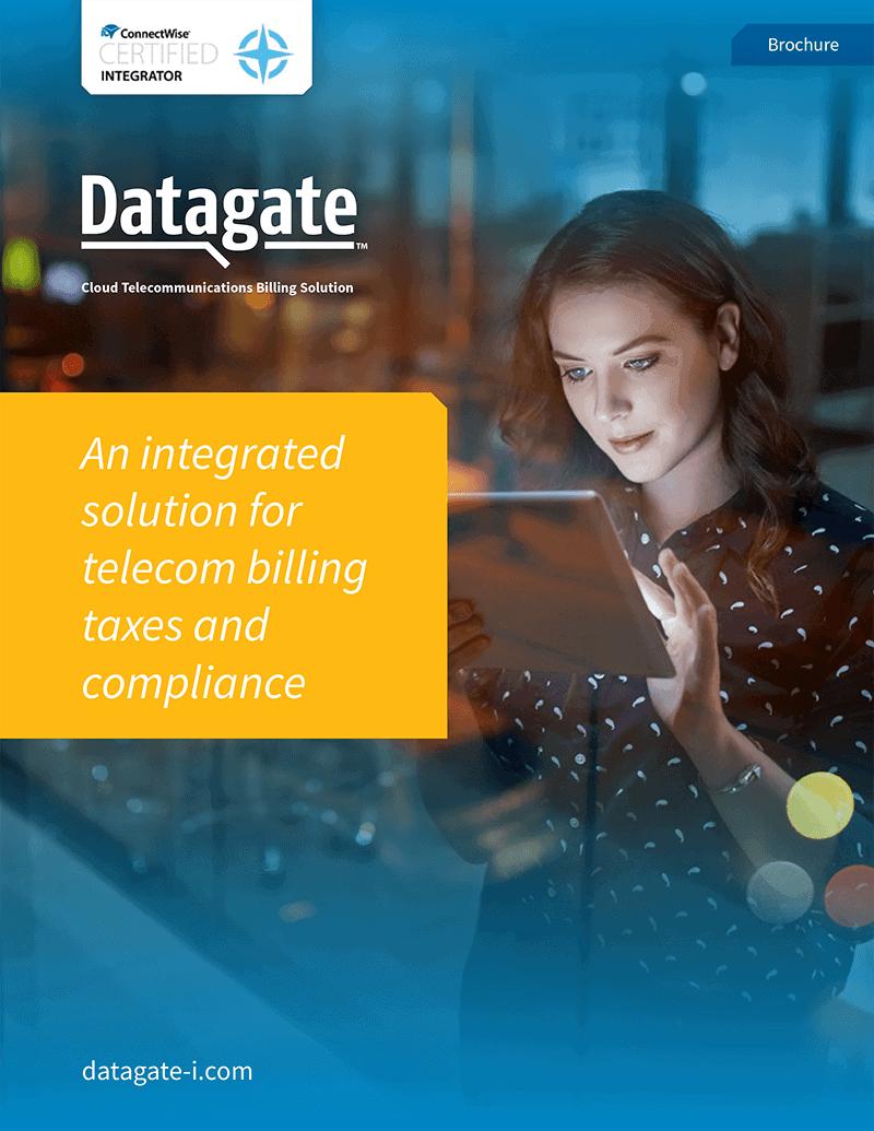 Datagate Brochure: Integrated telecom billing solution (US) | IT Nation 2018, October