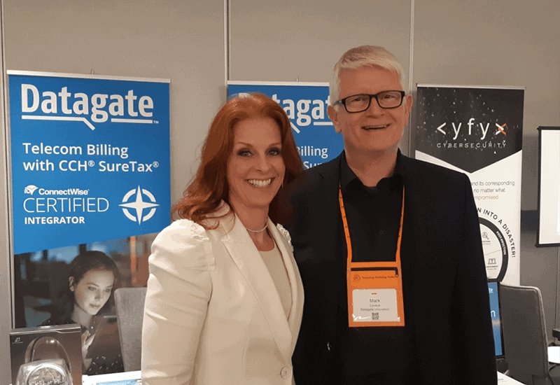 Robin Robins with Mark Loveys at the Marketing Implementation Roadshow, August 2019