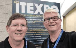 Greg Robinson and Mark Loveys, Datagate, at ITEXPO 2020