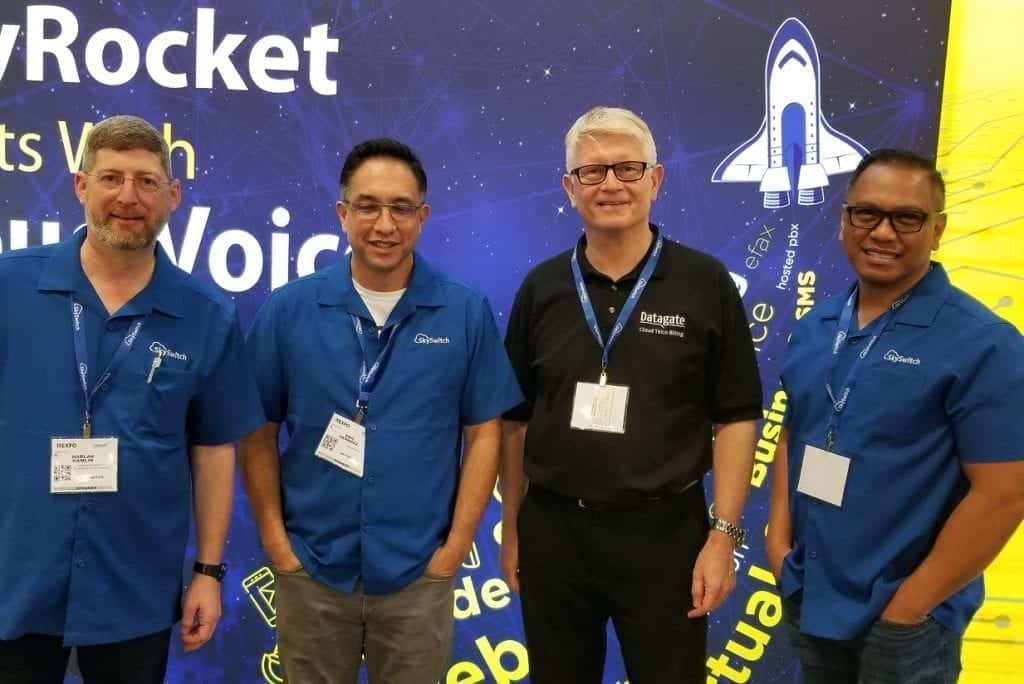 Conferences: Mark Loveys with SkySwitch's Harlon Hamlin, Eric Hernaez and Ben Macalindong @ ITEXPO 2020