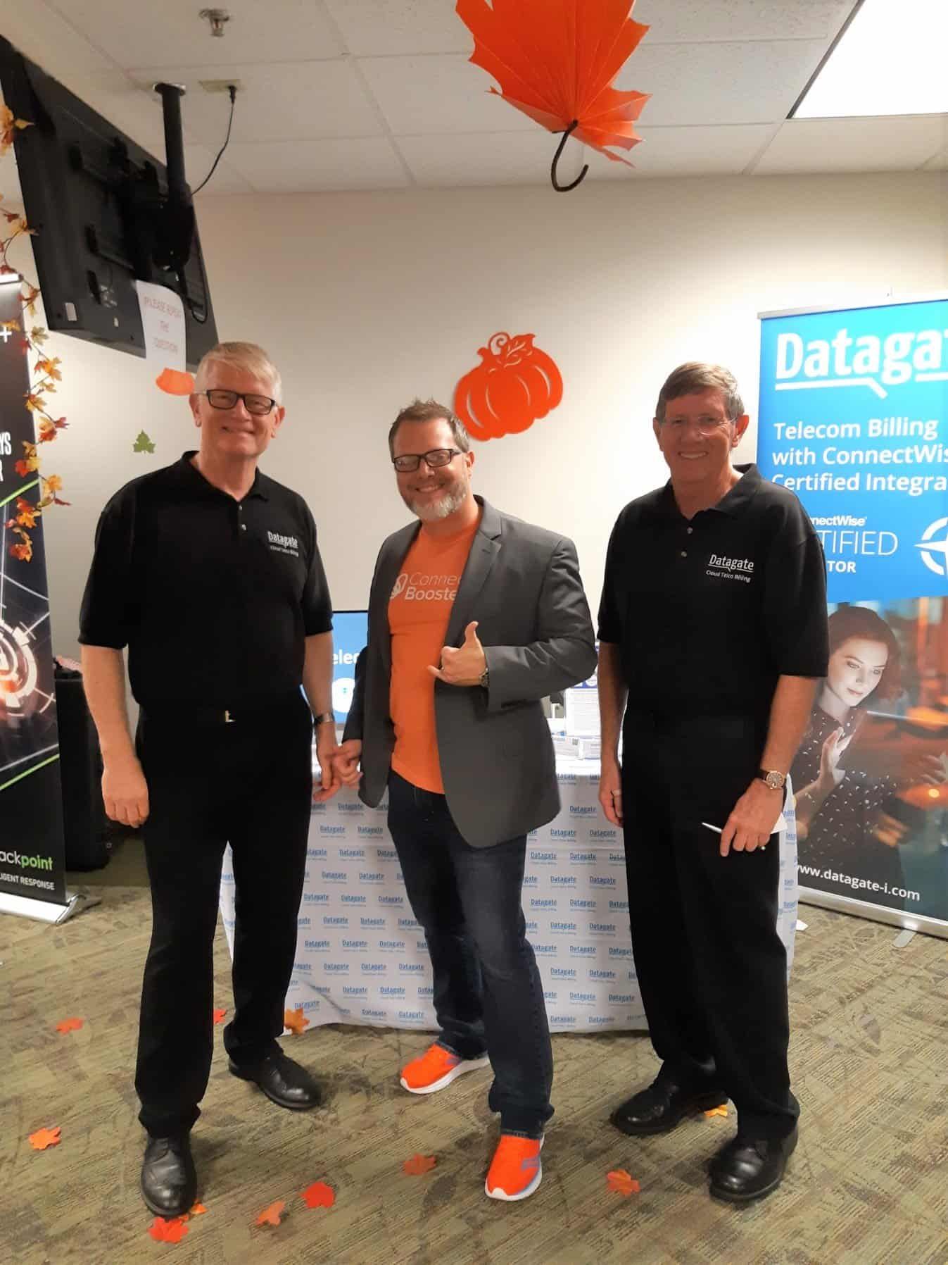 Datagate's Mark Loveys and Greg Robinson with ConnectBooster's Ryan Goodman