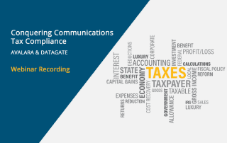 Webinar rewind banner: conquering communications tax compliance