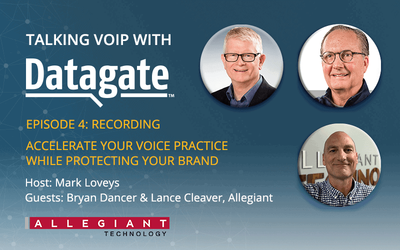 Talking VoIP with Datagate, ep 4, Allegiant | Webinar rewind banner